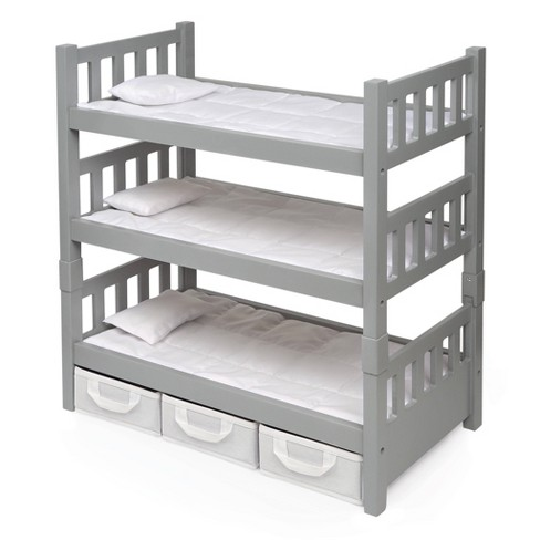 Badger Basket 1-2-3 Convertible Doll Bunk Bed with Baskets and Free Personalization Kit  - Executive Gray - image 1 of 4
