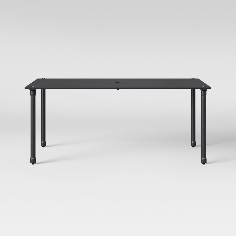 Fernhill 6-Person Patio Dining Table Black - Threshold