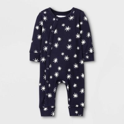 Grayson Mini Baby Rib Romper - Black 3-6M