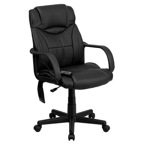 Fabulous Massaging Executive Swivel Office Chair Black Leather Flash Furniture Pdpeps Interior Chair Design Pdpepsorg