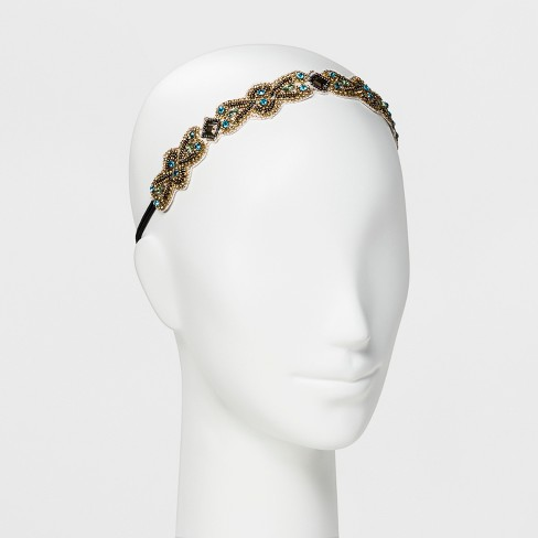 Pink Pewter Headband - Gold - image 1 of 1
