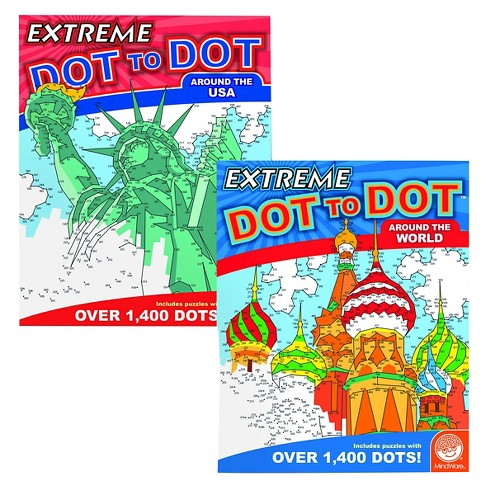 MindWare Extreme Dot to Dot Book Set of 2 - Destinations - image 1 of 3