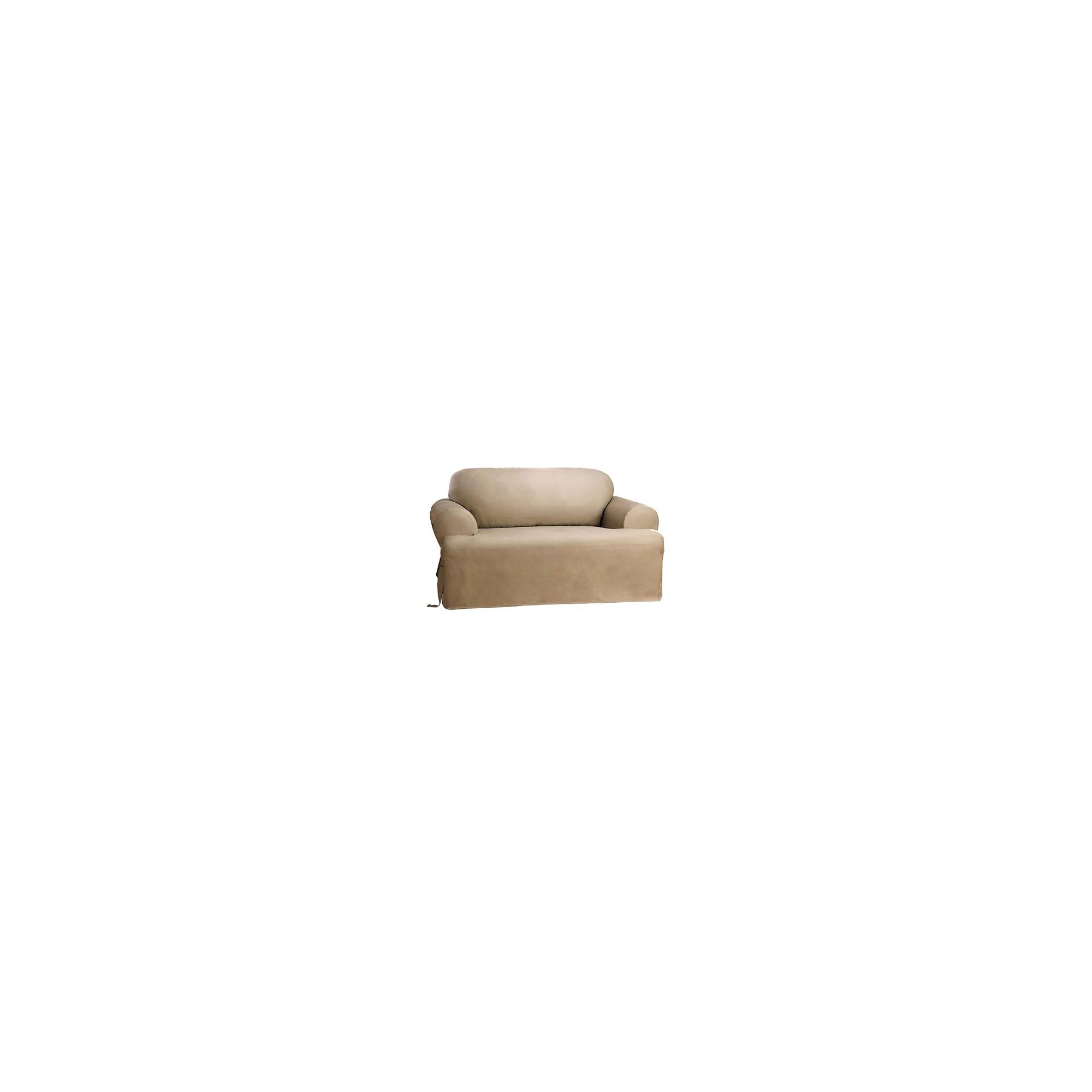 Cotton Duck Tcushion Loveseat Slipcover Linen - Sure Fit