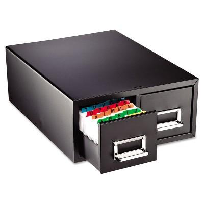 ies STEELMASTER Card File Drawer, Black, 3000 Card Capacity 263F4616DBLA