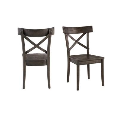 Calhoun Wooden Side Chair Set Dark Brown - Picket House Furnishings