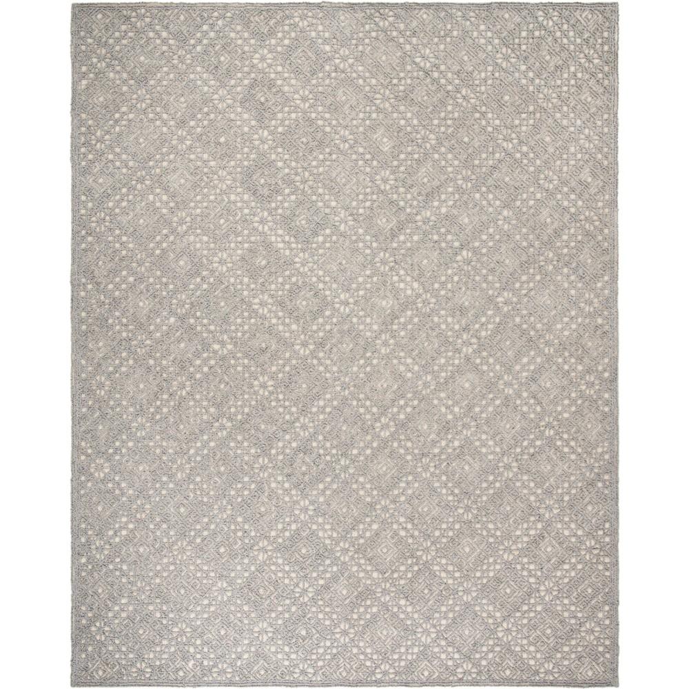 8'X10' Geometric Tufted Area Rug Gray - Safavieh