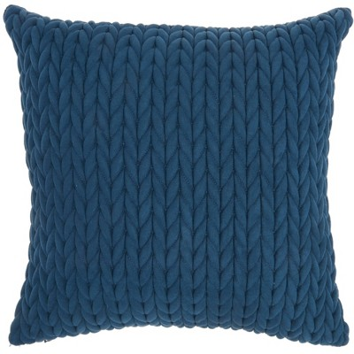 Life Styles Quilted Chevron Throw Pillow Blue - Nourison