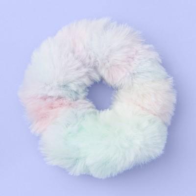 Girls' Pastel Rainbow Tie-Dye Faux Fur Twister - More Than Magic™