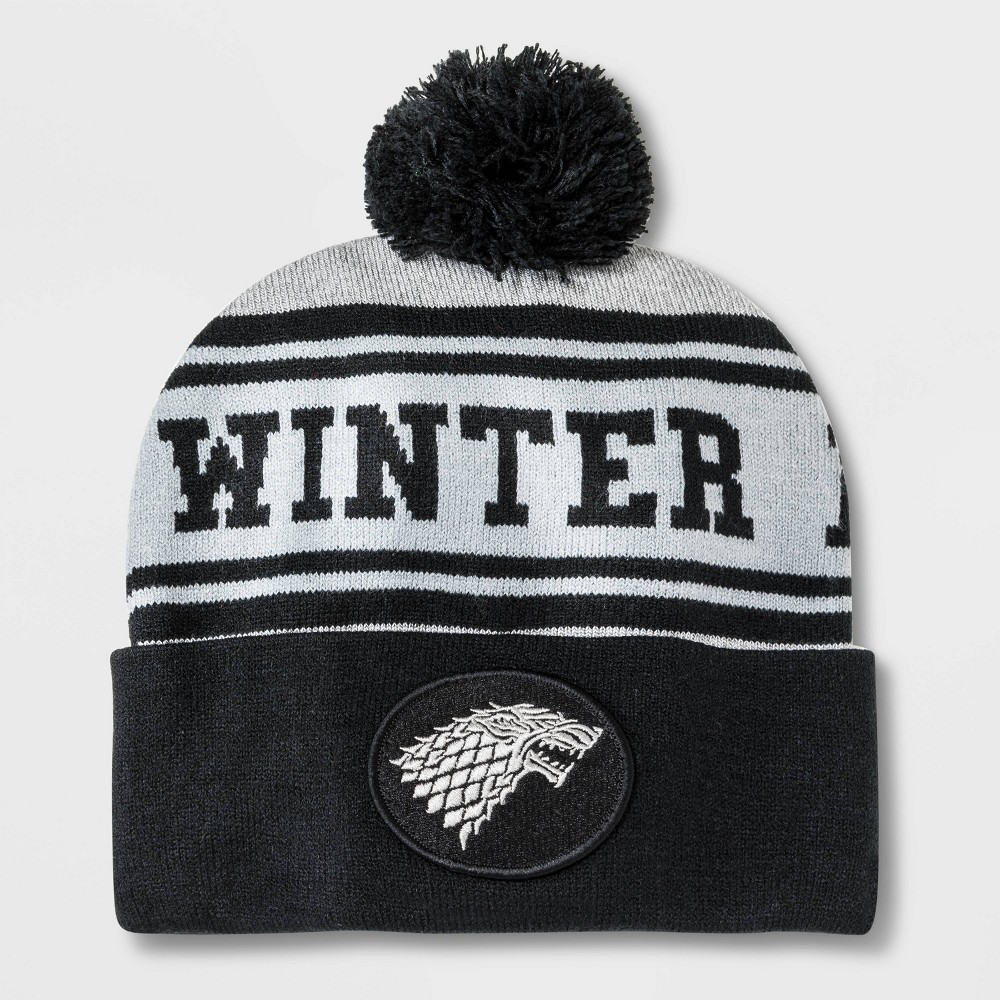 Image of Men's Game of Thrones Pom Cuffed Beanie - Black One Size
