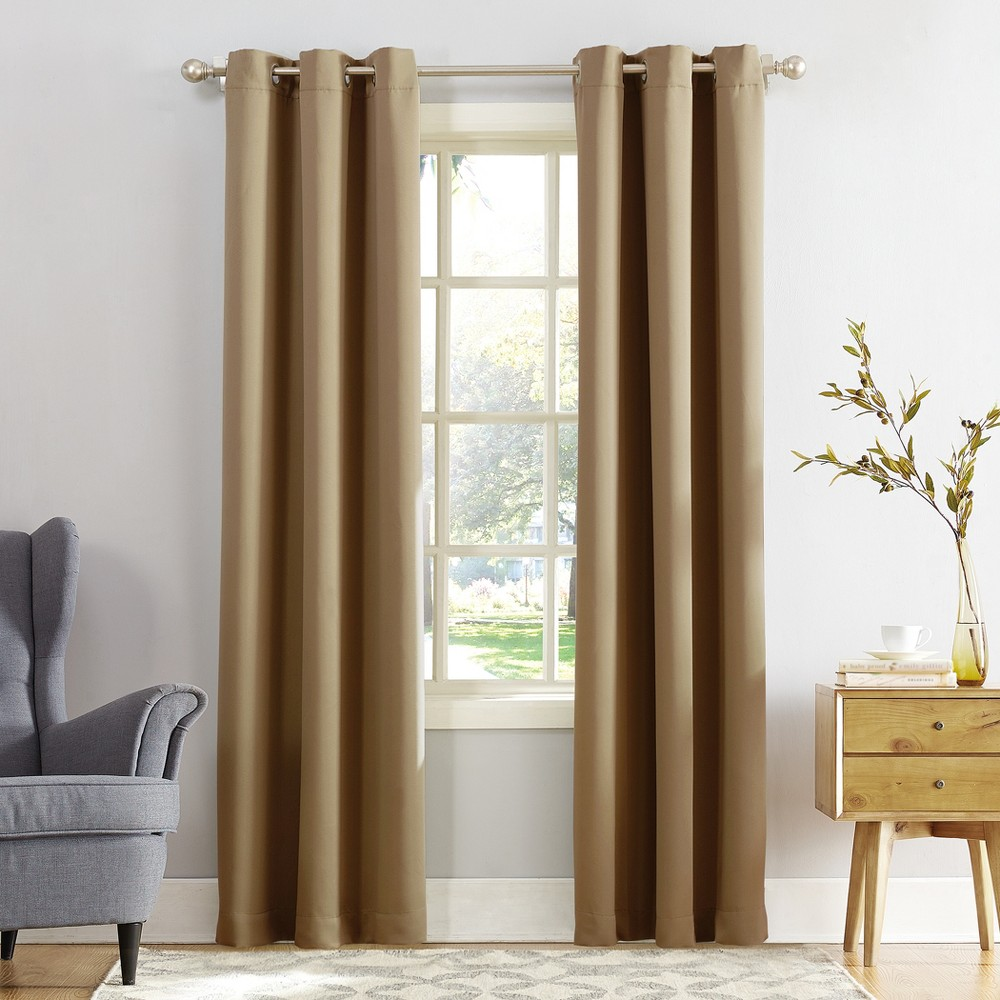 Kenneth Blackout Energy Efficient Grommet Curtain Panel Taupe (Brown) 40