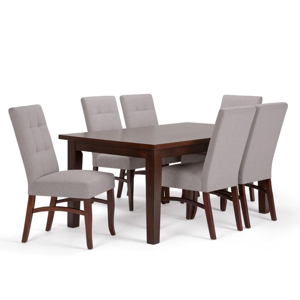 Hawthorne Solid Hardwood 7pc Dining Set Cloud Gray - Wyndenhall, Cloudy Grey