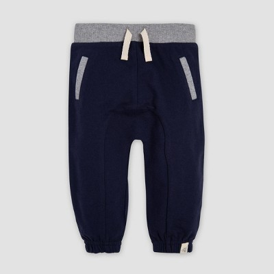 Burt's Bees Baby® Baby Boys' French Terry Organic Cotton Jogger Pants - Blue 3-6M