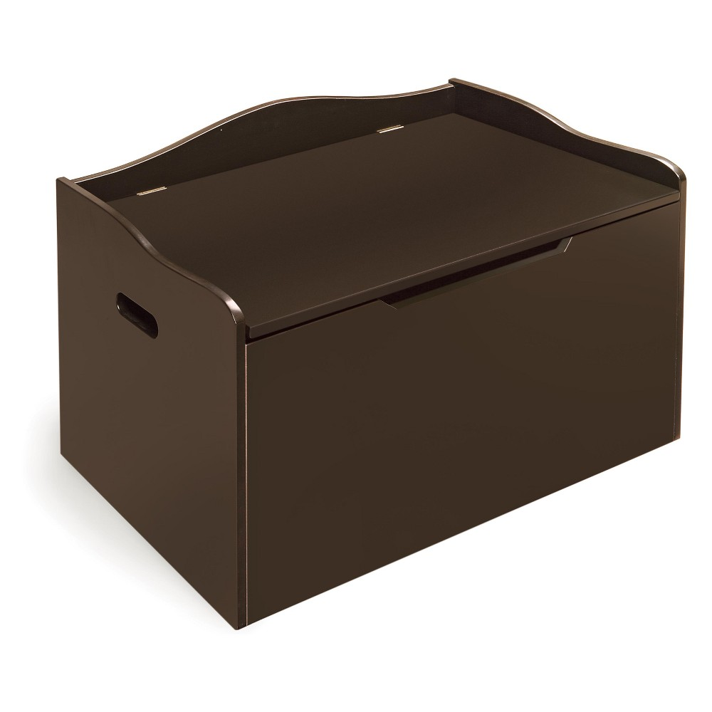 Image of Badger Basket Bench Top Toy Box Espresso Brown