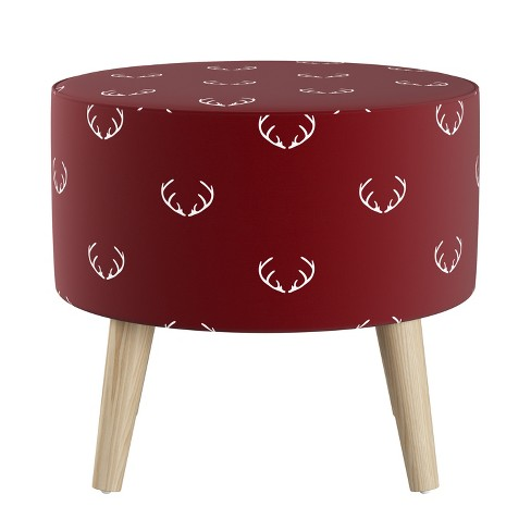 Round Ottoman with Splayed Legs Patterned - Skyline Furniture - image 1 of 2
