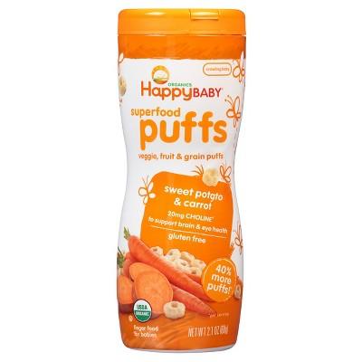 Happy Baby Happy Puffs Organic Sweet Potato - 2.1oz