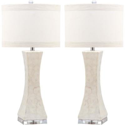 Table Lamp White (Set of 2)(Includes Energy Efficient Light Bulb)- Safavieh