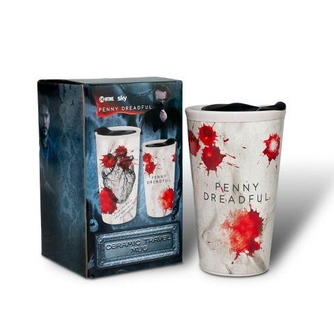 Surreal Entertainment Penny Dreadful Mugs | Penny Dreadful White Ceramic Blood Strain Travel Mug - image 1 of 4