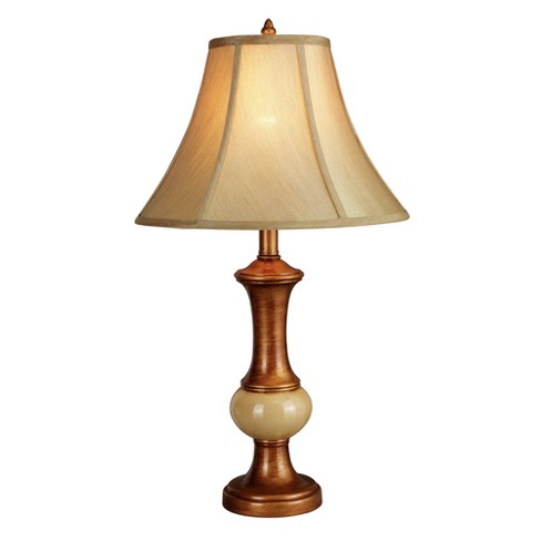 "Gold/Beige Polyresin Table Lamp 26"" - Home Source - image 1 of 2"