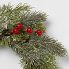 """12"""" Artificial Pine and Berry Wreath - Threshold™ - image 3 of 3"""