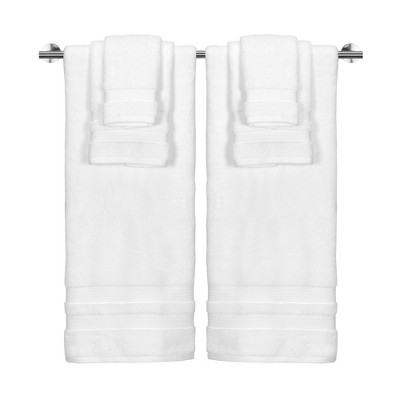 6pc Bel Aire Towel Set White - Caro Home