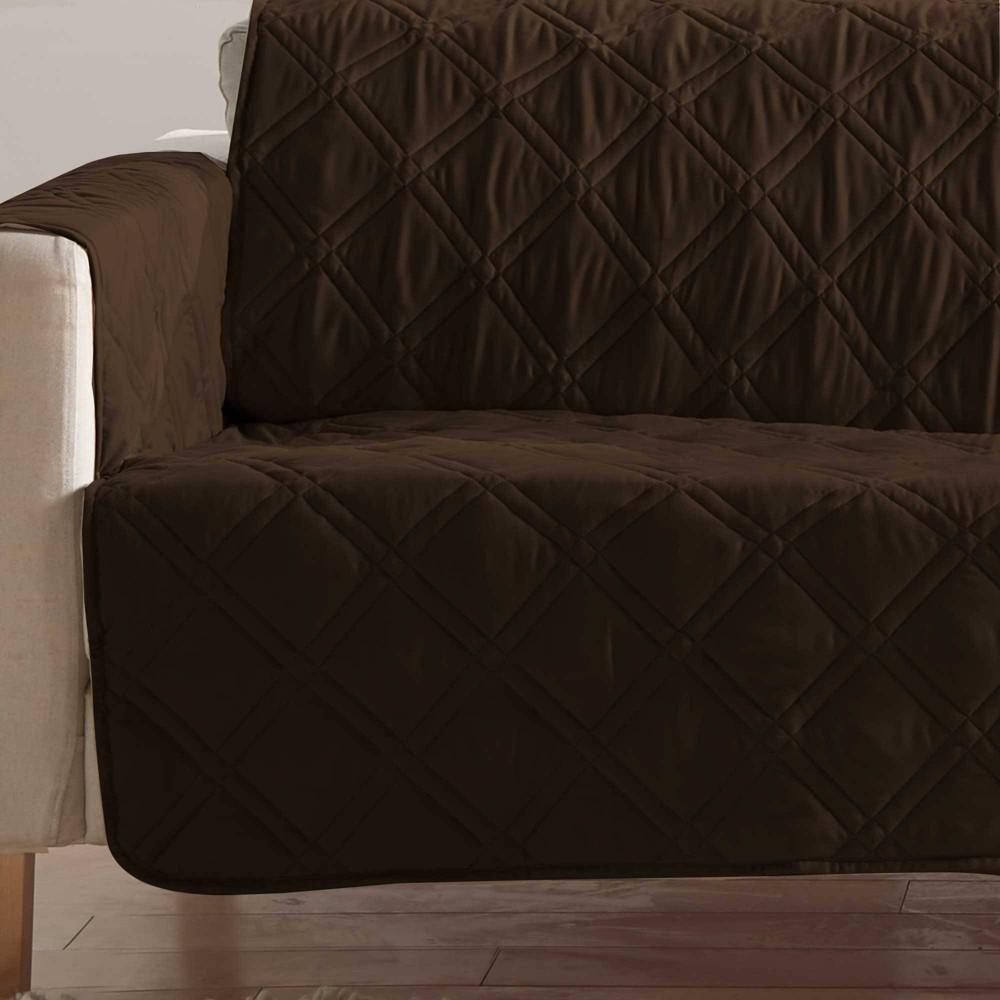 Microfiber Non Slip Chair Furniture Protector Chocolate Dark Brown Sure Fit