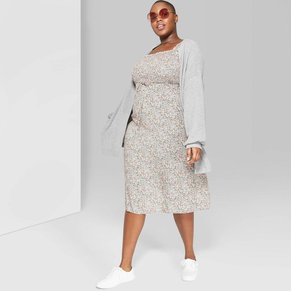 Women's Plus Size Long Sleeve Oversized Waffle Cardigan - Wild Fable Heather Gray 2X