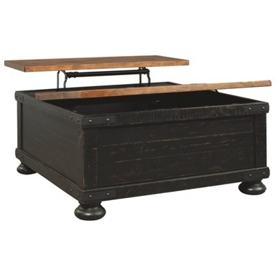 Valebeck Square Lift Top Cocktail Table Black/Brown - Signature Design By  Ashley : Target