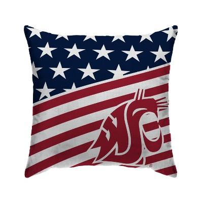 NCAA Washington State Cougars Americana Decorative Throw Pillow