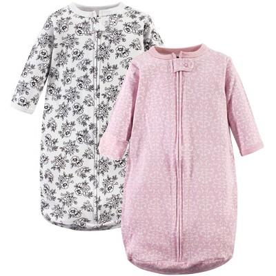 Hudson Baby Infant Girl Cotton Long-Sleeve Wearable Sleeping Bag, Sack, Blanket, Toile