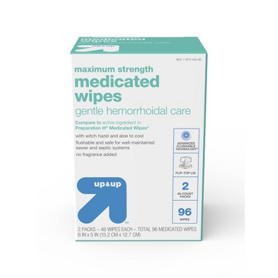 Medicated Hemorrhoid Wipes - 96ct - up & up™