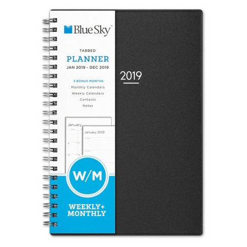 "2019 Planner 8""x 6"" Gray Charcoal - Blue Sky - image 1 of 4"