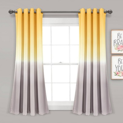 Set of 2 Umbre Fiesta Room Darkening Window Curtain Panels - Lush Décor