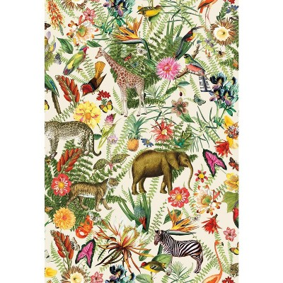 RoomMates Tropical Zoo Peel & Stick Wallpaper