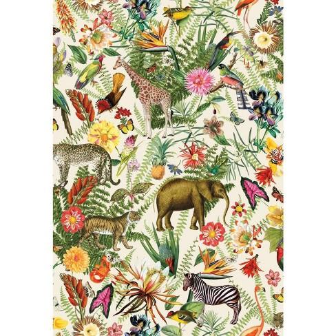 RoomMates Tropical Zoo Peel & Stick Wallpaper - image 1 of 4