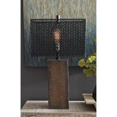 Briek Table Lamp Brown - Signature Design by Ashley