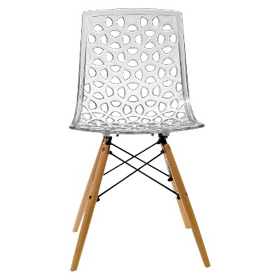AEON Sandra Polycarbonate Chair   Clear (Set Of 2)