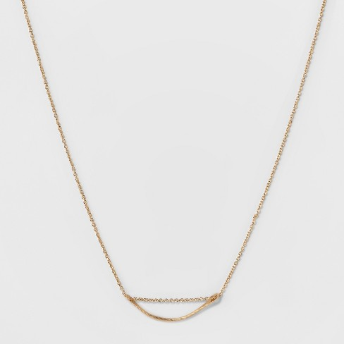 Curved Metal Bar Short Necklace - A New Day™ - image 1 of 3