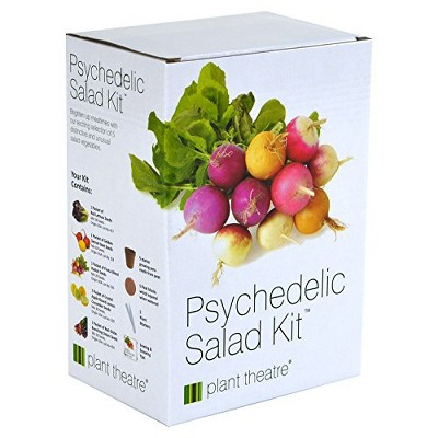 Plant Theatre Psychedelic Salad Kit - Plant Seed Kit - 5 Fantastic Salad Vegetables to Grow - Everything You Need to Start Growing in one Box!