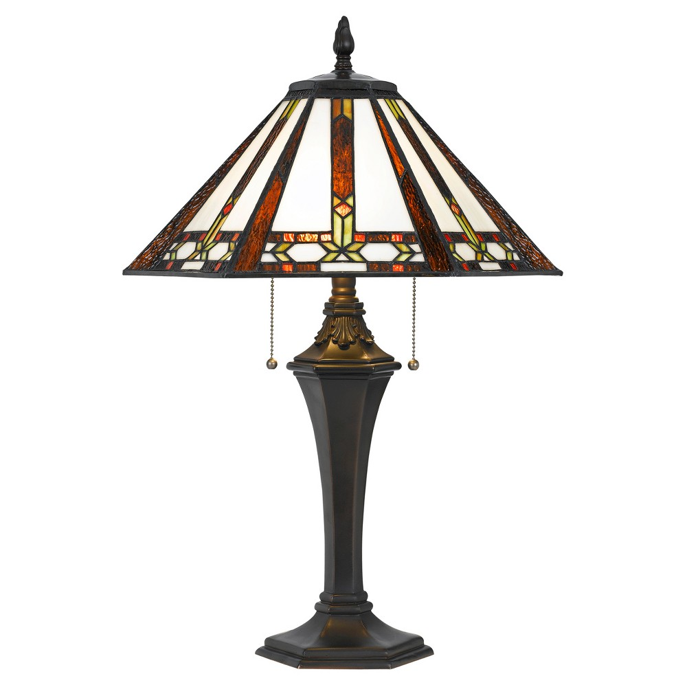 Tiffany Table Lamp 60w X 2 Blue (Includes Energy Efficient Light Bulb) - Cal Lighting