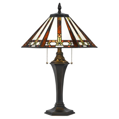 Tiffany Table Lamp 60w X 2 Blue Includes Energy Efficient