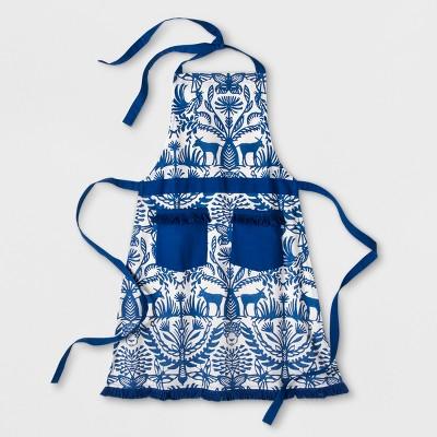 Blue Eulalia Fringed Apron - Opalhouse™