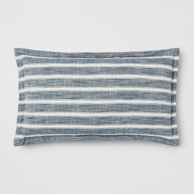 Blue Stripe Lumbar Pillow - Threshold™