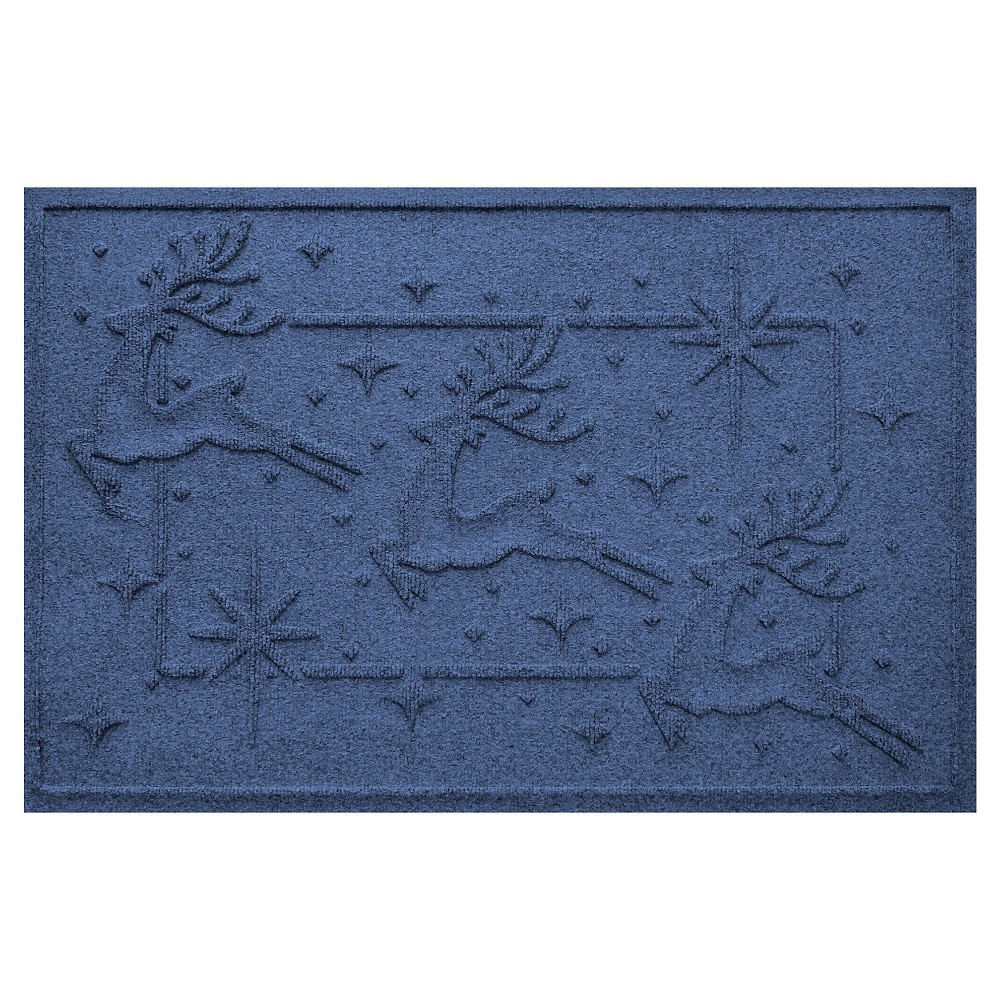 Navy (Blue) Animals Pressed Doormat - (2'X3') - Bungalow Flooring