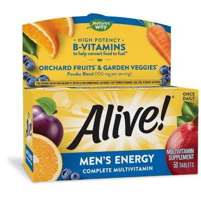 Nature's Way Alive! Men's Energy Multivitamin Tablets - 50ct