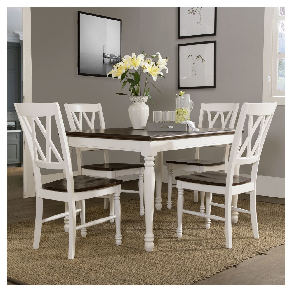 Shelby 5 Pc Dining Set White - Crosley