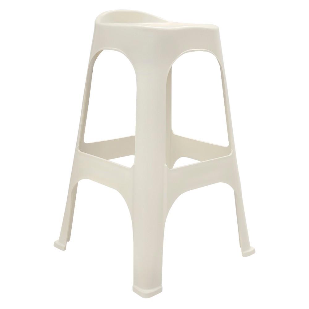 Image of 30 Real Comfort 2 Pk Barstool - White - Adams