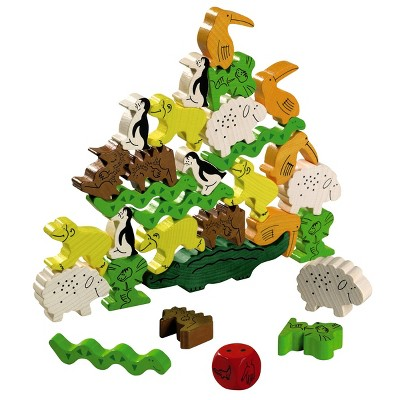 HABA Animal Upon Animal - Classic Wooden Stacking Game (Made in Germany)