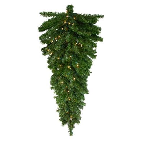 "Northlight 42"" Prelit Canadian Pine Artificial Christmas Teardrop Door Swag - Clear Lights - image 1 of 3"