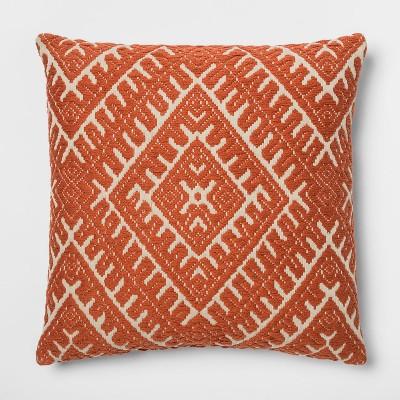 Woven Global Square Throw Pillow Orange - Threshold™