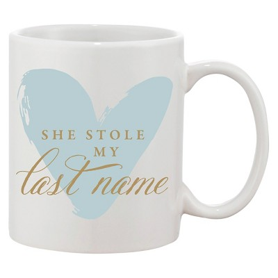 She Stole My Last Name Blue Coffee Mug